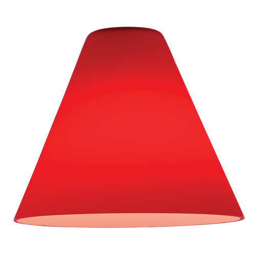 Access Lighting Inari Silk Martini Pendant Glass Shade in  with Red Glass, 23104-RED