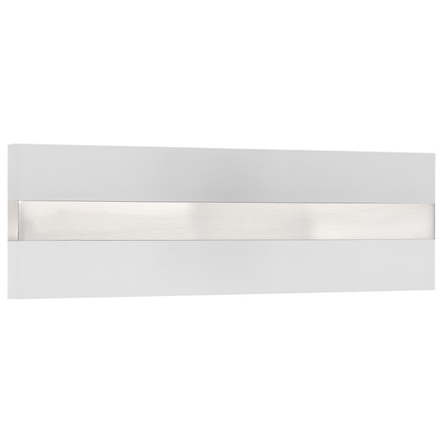 Access Lighting Netherton Bi-Directional LED Vanity in Brushed Steel with Acrylic Lens Glass, 62591LEDD-BS/ACR