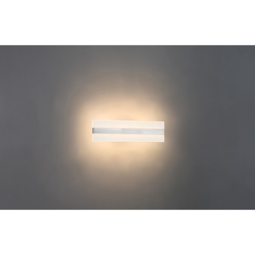 Access Lighting Netherton Bi-Directional LED Vanity in Brushed Steel with Acrylic Lens Glass, 62592LEDD-BS/ACR