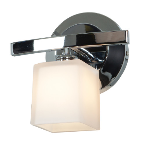 Access Lighting Sydney 1 Light Wall Sconce & Vanity in Chrome with Amber Glass, 63811-18-CH/AMB
