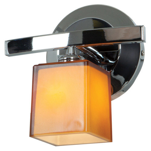 Access Lighting Sydney 1 Light Wall Sconce & Vanity in Chrome with Opal Glass, 63811-18-CH/OPL