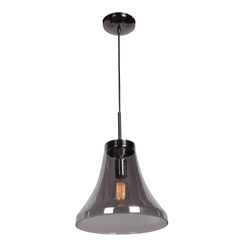 Access Lighting Simplicite Pendant in Black Chrome with Smoke Glass, 63990-BCH/SMK