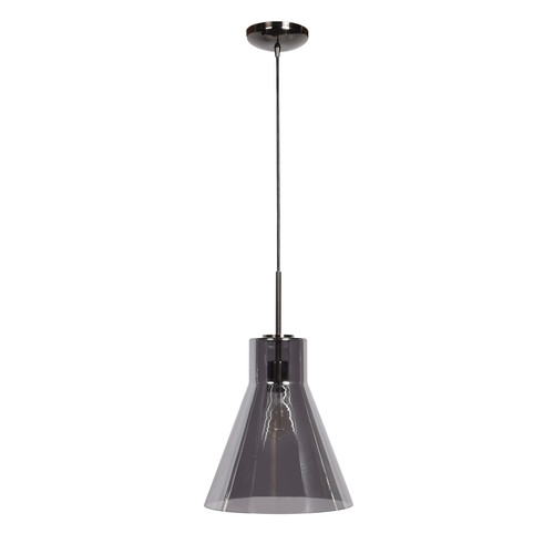 Access Lighting Simplicite Pendant in Black Chrome with Smoke Glass, 63992-BCH/SMK