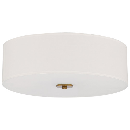 Access Lighting Mid Town LED Flush Mount in Antique Brushed Brass, 64063LEDDLP-ABB/WH