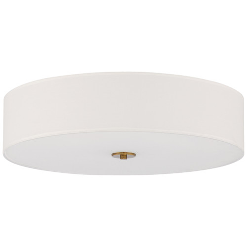 Access Lighting Mid Town LED Flush Mount in Antique Brushed Brass, 64064LEDDLP-ABB/WH