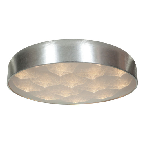 Access Lighting Meteor LED Flushmount in Brushed Silver with Acrylic Lens Glass, 70081LEDD-BSL/ACR