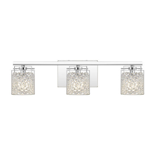 Quoizel 3 Light Purcell Bath Light in Polished Chrome Finish, PCPU8623C