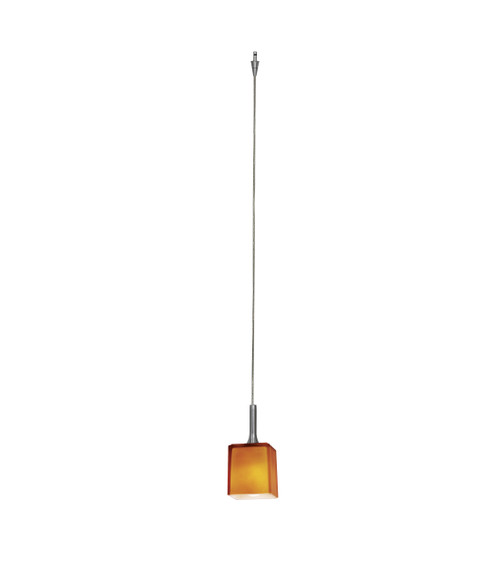 Access Lighting Omega Pendant Without Canopy in Bronze with Amber Glass, 96918-0-BRZ/AMB