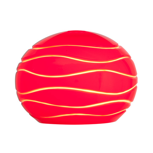 Access Lighting Sphere Etched Glass Shade in  with Red Lined Glass, 979WJ-REDLN