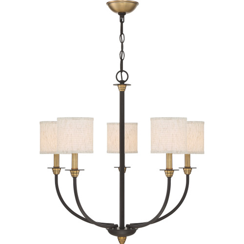 Quoizel 5 Light Audley Chandelier in Old Bronze Finish, ADY5005OZ