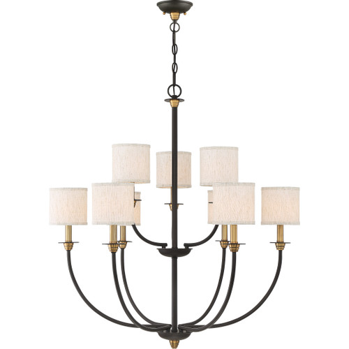 Quoizel 9 Light Audley Chandelier in Old Bronze Finish, ADY5009OZ
