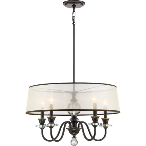 Quoizel 5 Light Ceremony Chandelier in Palladian Bronze Finish, CRY5005PN