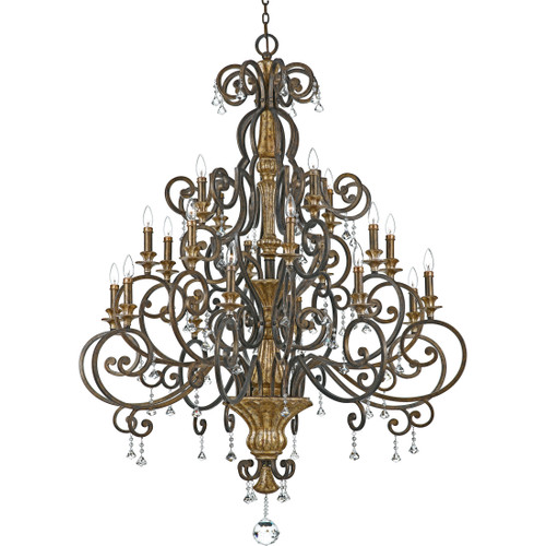 Quoizel 2Marquette Chandelier in Heirloom Finish, MQ5020HL