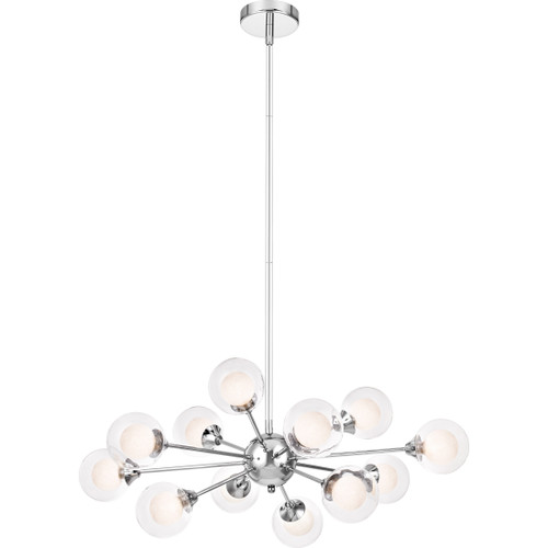 Quoizel 12 Light Spellbound Chandelier in Polished Chrome Finish, PCSB5012C