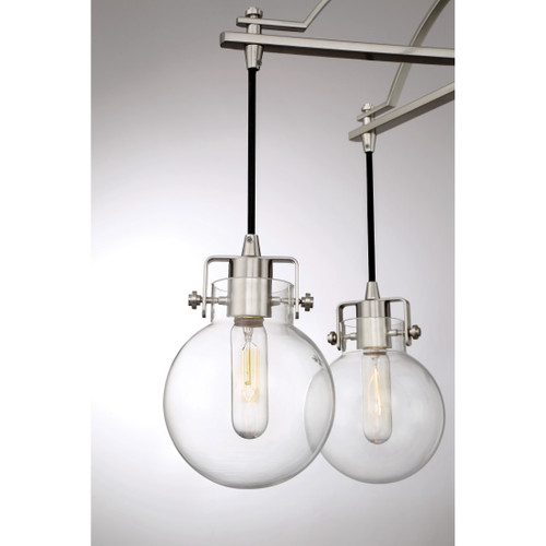 Quoizel Sidwell Chandelier 5 Light, Brushed Nickel