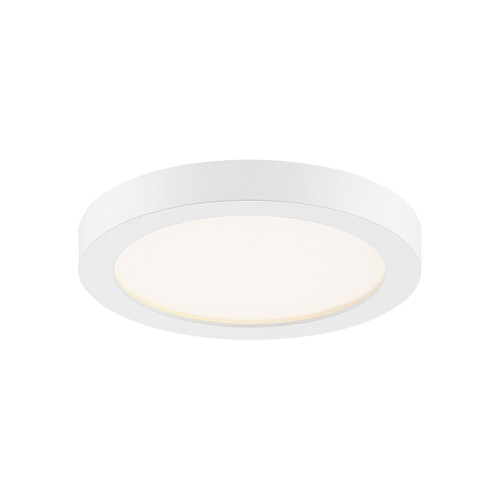 Quoizel Outskirts Flush Mount in White Lustre Finish, OST1708W