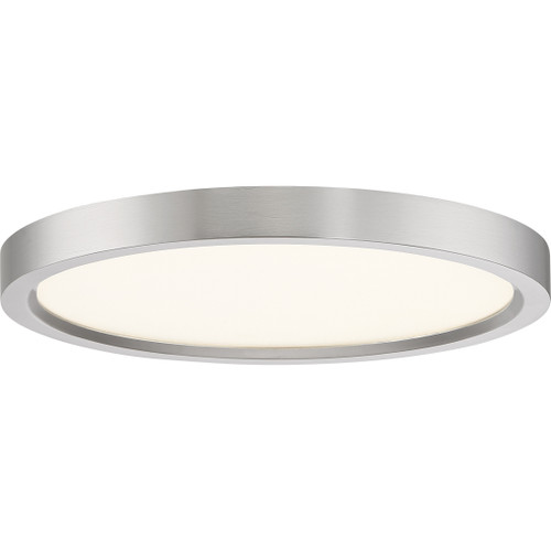 Quoizel Outskirts Flush Mount in Brushed Nickel Finish, OST1711BN