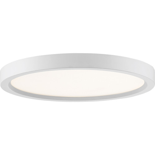 Quoizel Outskirts Flush Mount in White Lustre Finish, OST1711W
