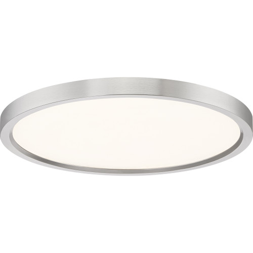 Quoizel Outskirts Flush Mount in Brushed Nickel Finish, OST1715BN