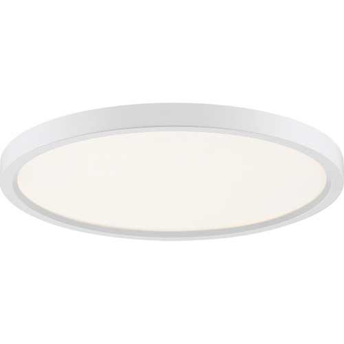 Quoizel Outskirts Flush Mount in White Lustre Finish, OST1715W