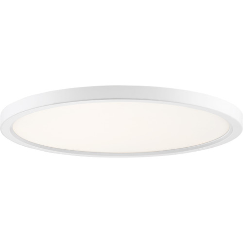 Quoizel Outskirts Flush Mount in White Lustre Finish, OST1720W