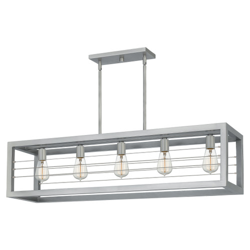 Quoizel 5 Light Awendaw Island Chandelier in Antique Nickel Finish, AWD540AN