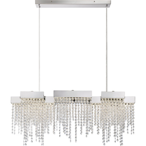 Quoizel Crystal Falls Island Chandelier in Polished Nickel Finish, PCCL1033PK