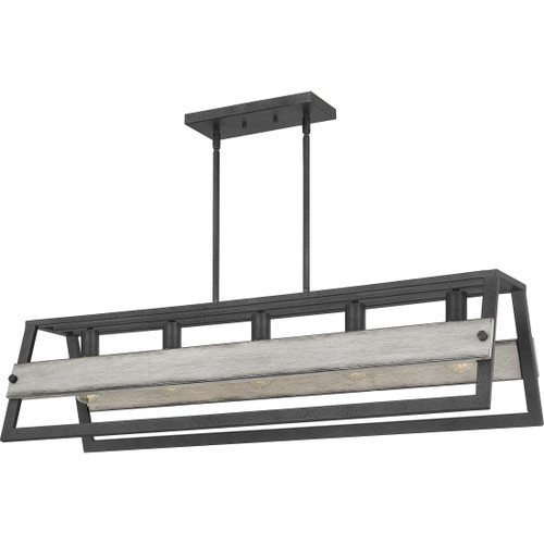 Quoizel 5 Light Starling Island Chandelier in Distressed Iron Finish, SLG540DO