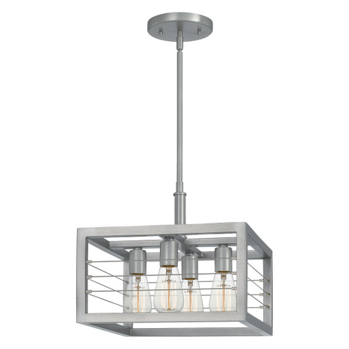 Quoizel 4 Light Awendaw Pendant in Antique Nickel Finish, AWD2814AN
