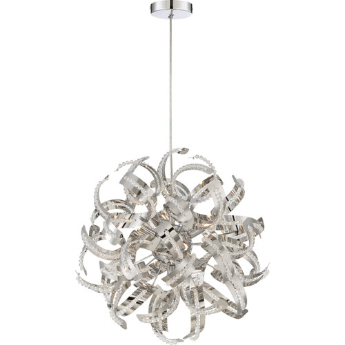 Quoizel 5 Light Ribbons Pendant in Crystal Chrome Finish, RBN2817CRC