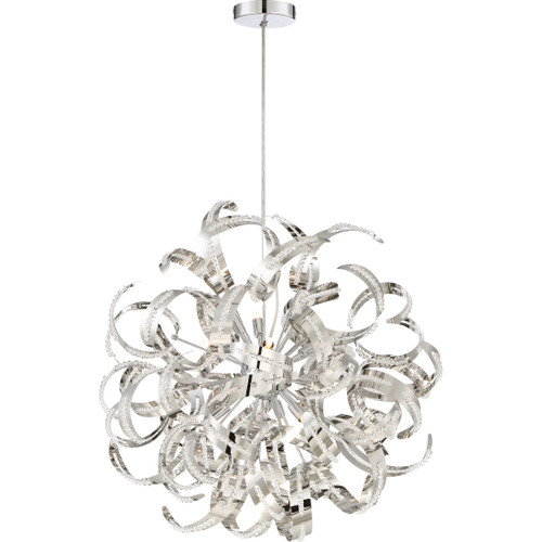 Quoizel 12 Light Ribbons Pendant in Crystal Chrome Finish, RBN2823CRC