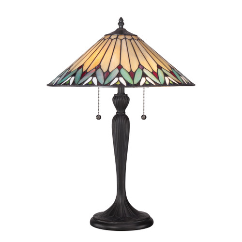 Quoizel 2 Light Pearson Table Lamp in Finish, TF1433T