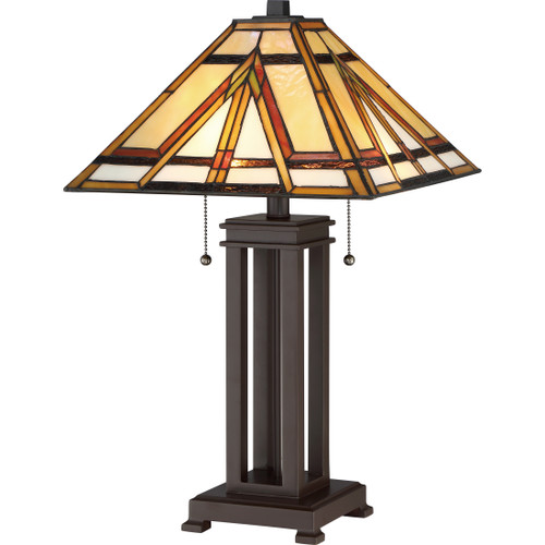 Quoizel 2 Light Gibbons Table Lamp in Russet Finish, TF2095TRS