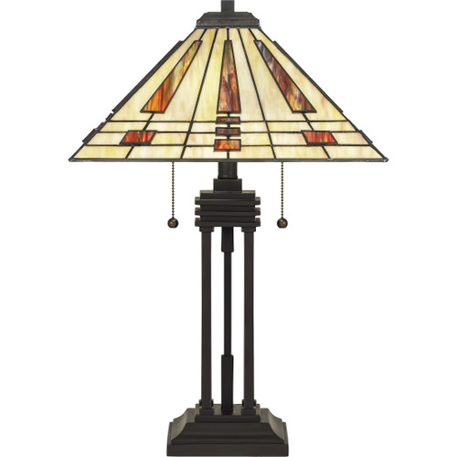 Quoizel 2 Light Stevie Table Lamp in Western Bronze Finish, TF5209TWT
