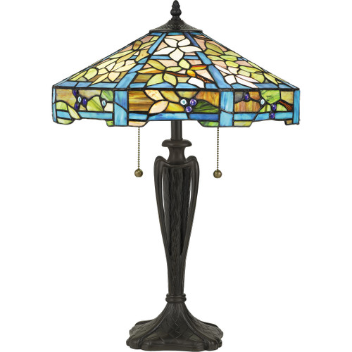Quoizel 2 Light Duffy Table Lamp in Vintage Bronze Finish, TF5212TVB