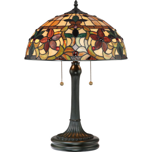 Quoizel 2 Light Kami Table Lamp in Vintage Bronze Finish, TF878T