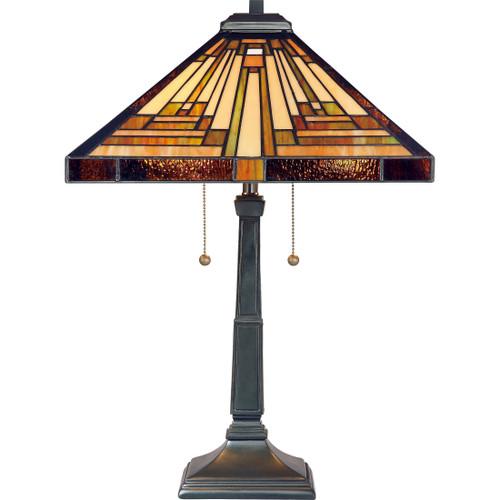 Quoizel 2 Light Stephen Table Lamp in Vintage Bronze Finish, TF885T