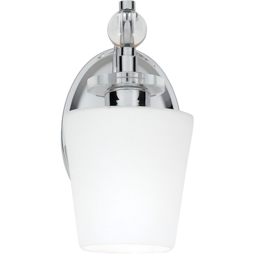 Quoizel 1 Light Hollister Wall Sconce in Polished Chrome Finish, HS8601C