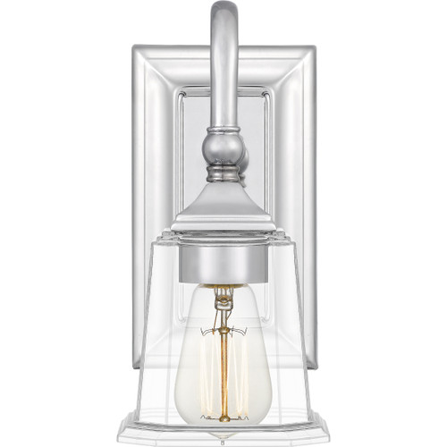 Quoizel 1 Light Nicholas Wall Sconce in Polished Chrome Finish, NLC8601C