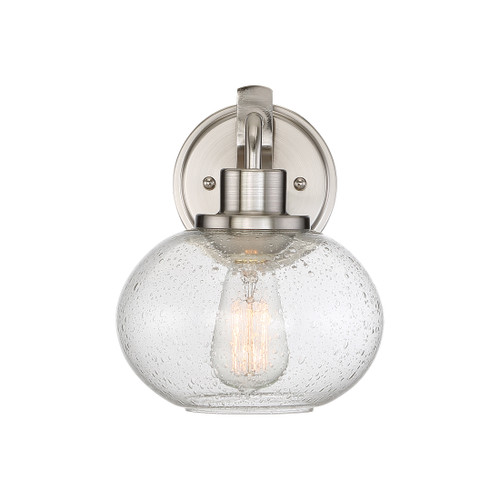 Quoizel 1 Light Trilogy Wall Sconce in Brushed Nickel Finish, TRG8701BN