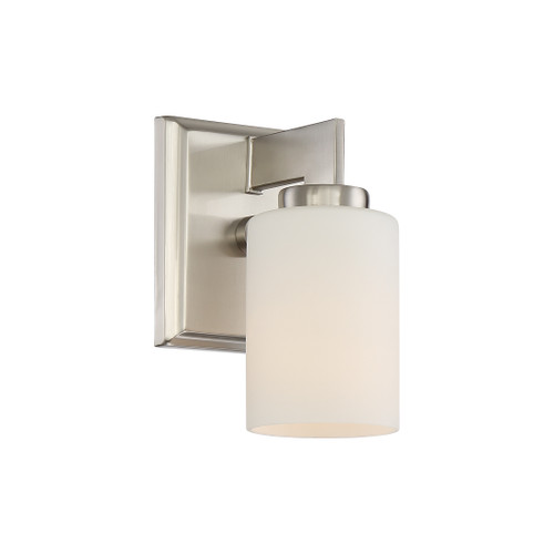 Quoizel 1 Light Taylor Wall Sconce in Brushed Nickel Finish, TY8601BN