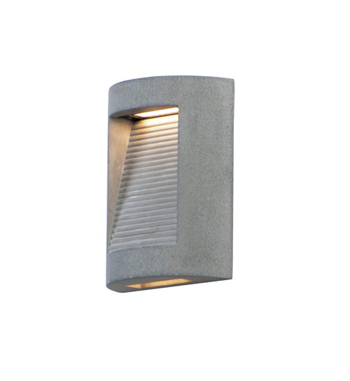ET2 Boardwalk Small LED Outdoor Wall Sconce in Greystone