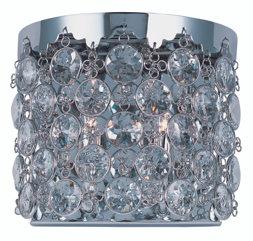 ET2 Dazzle 2-Light Wall Sconce in Polished Chrome