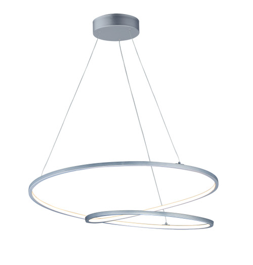 """ET2 Cycle 31.5"""" LED Pendant in Matte Silver"""