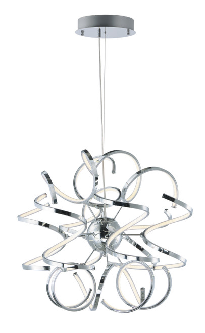 """ET2 Chaos 23.5"""" LED Pendant in Polished Chrome"""