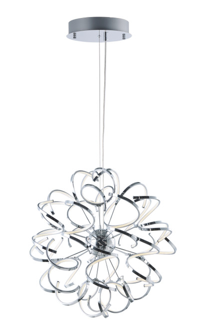 """ET2 Chaos 31.5"""" LED Pendant in Polished Chrome"""