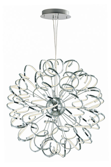 """ET2 Chaos 40"""" LED Pendant in Polished Chrome"""