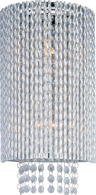 ET2 Spiral 2-Light Wall Mount in Polished Chrome