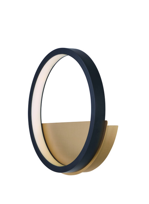 ET2 Hoopla LED Wall Sconce in Black / Gold