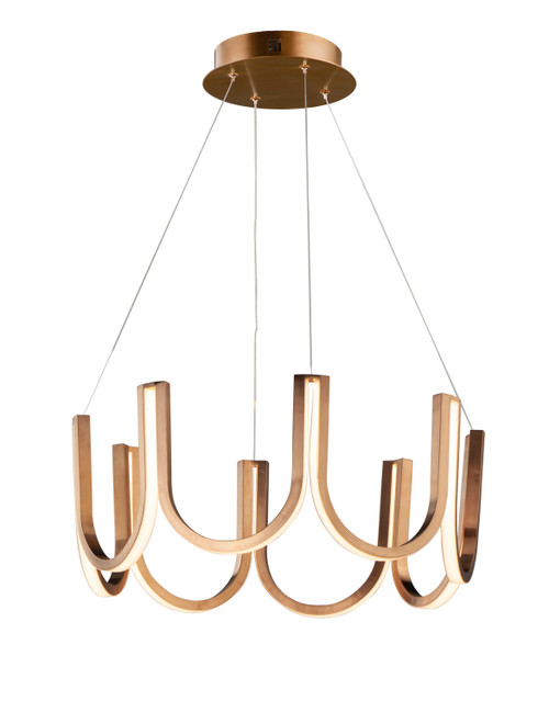 ET2 You LED Pendant in Brushed Champagne
